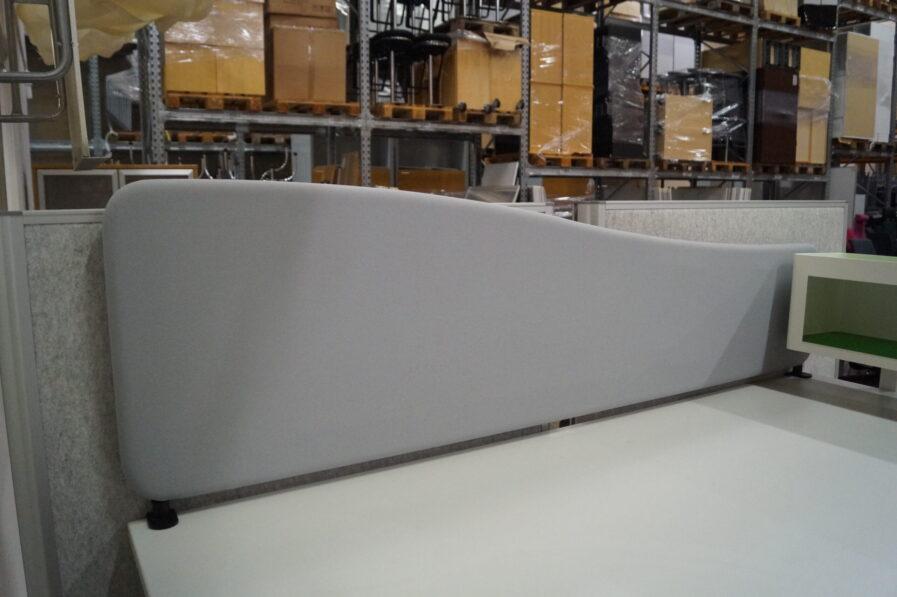 Bordsskärmväggar Softline Wave ljusgrå 160 CM
