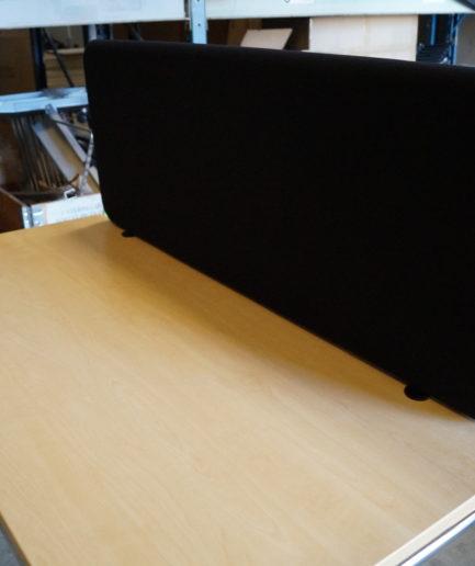 Bordsskärmväggar Abstracta Softline 120x45 Svart
