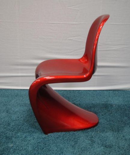 Designstol rött/svart/vitt